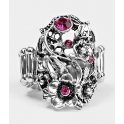 Glittery Bouquet Pink Ring