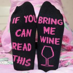 Funny Socks - Wine Please