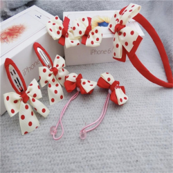 Polka Dot Headband - 7 Piece Set