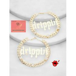 Drippin hoop earrings (gold)