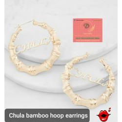 Chula bamboo hoop earrings