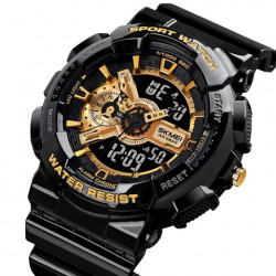Military sports watch(black& gold)