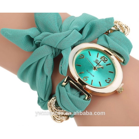 Oval face cloth watches
