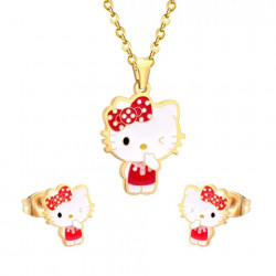 Character necklace and earring set