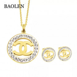 Chanel inspired necklace set